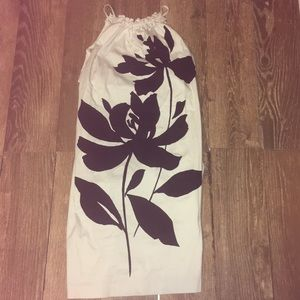 London Times White Black Flower Dress XL